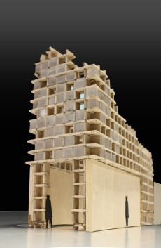 Model of tower