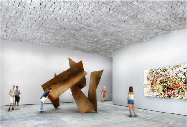 Render of a gallery scenario using the tubes