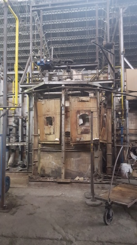 the previous, burnt out kiln