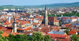 View above Cluj