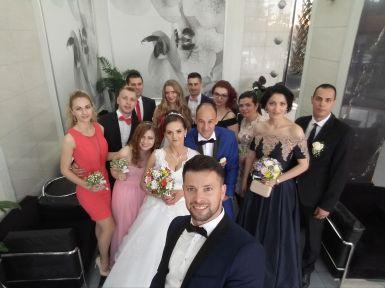 Crista's cousin at a wedding